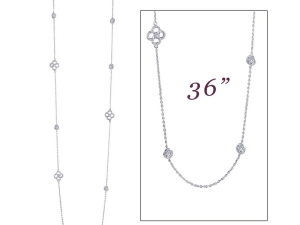 Silver & Simulated Diamond Necklace by Lafonn Jewelry